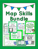 Map Skills Bundle: activities, worksheets, crafts, posters + more