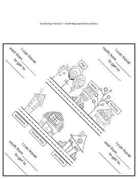 Map Skills Cardinal Directions Foldable