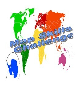 Map skills challenge game middle school social studies by kelly map skills challenge game middle school social studies gumiabroncs Images