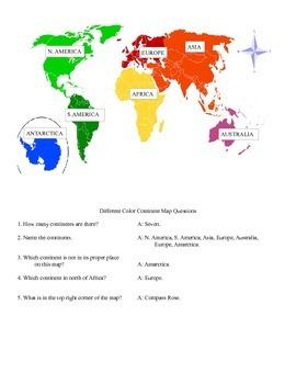 Map Skills Challenge Game Middle School Social Studies