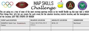 Map Skills Challenge-Sports Edition