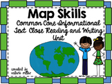 Map Skills Common Core Reading and Writing Unit