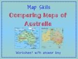 Map Skills: Comparing Maps of Australia