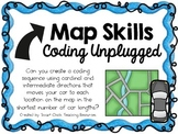 Map Skills & Compass Directions ~ Coding Unplugged Challenge ~ STEM