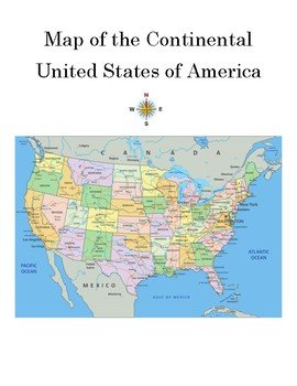 Map Skills Continental United States Worksheet With Detailed Answer Key - Us-map-key