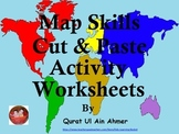 Map Skills Cut and Paste Activity Worksheets: