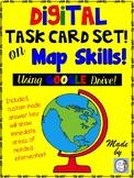 Map Skills DIGITAL Task Card Set  (intermediate grades)