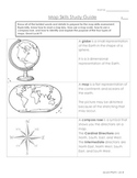 Map Skills Definitions or Study Guide