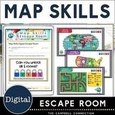 Map Skills Digital Escape Room | Breakout Room | Fun Activities