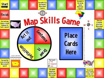 Map Skills Vocabulary Game