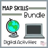 Map Skills | Geography | Digital Activities | Bundle | Dis