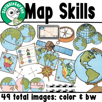 Map Skills Geography ClipArt