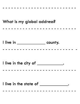 Map Skills ~ Global Address