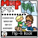Map Skills Interactive Notebook Flip-It Book