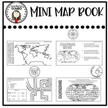 Map Skills Interactive Notebook Flip-It Book