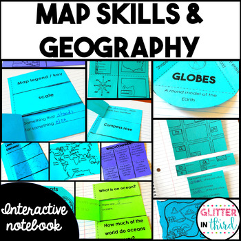 Map Skills & Geography Social Studies Interactive Notebook