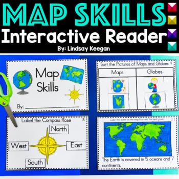 Map Skills Interactive Reader- Maps, Globes, Cardinal Dire