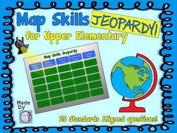 Map Skills Jeopardy Game (intermediate grades)