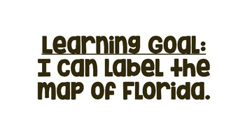 Map Skills: Labeling Florida