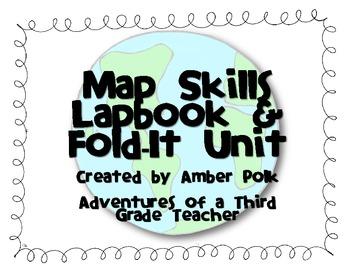 Map Skills Lapbook Unit by Amber Polk | Teachers Pay Teachers