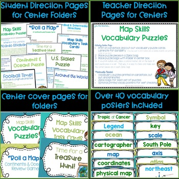 Map Skills Learning Centers Bundle!