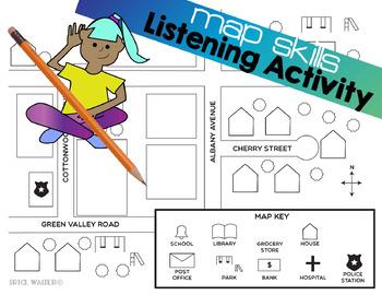 Map Skills - Listening Activity