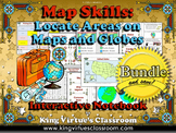 Map Skills: Locate Areas on Maps and Globes Interactive Notebook BUNDLE