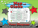 Map Skills: Map and Globe Venn Diagram - Compare Contrast