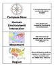Map Skills Matching and Sorting Partner Activity