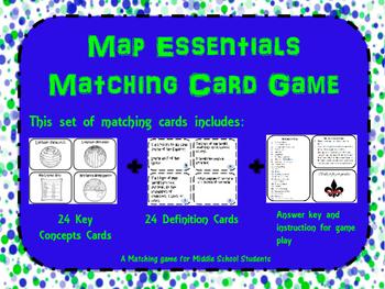 Map Skills Memory/ Matching Game