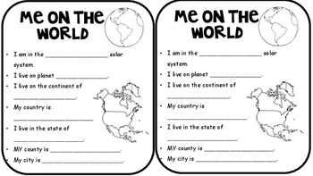 Map Skills Notebooking Pages