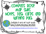 Map Skills Notes, Task Cards, and Writing Pack