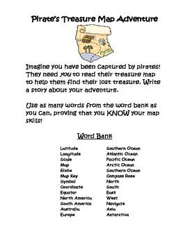 Map Skills Pirate Narrative Writing