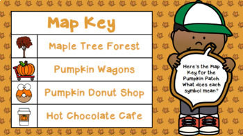 Map Skills PowerPoint & Map Grid Project: The Pumpkin Patch