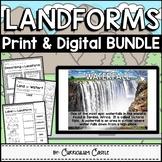 Landforms Print & Digital Activities BUNDLE