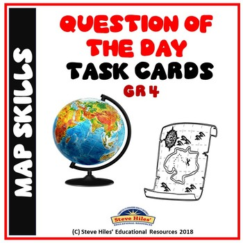 Map Skills: Question of the Day Task Cards