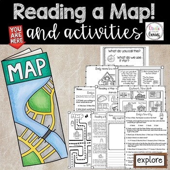 Map Skills- Reading a Map and Activities Pack-