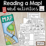 Map Skills- Reading a Map and Activities Pack- Distance Learning