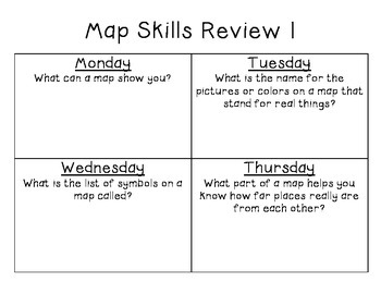 Map Skills Review {Broken Down Day-by-Day!}