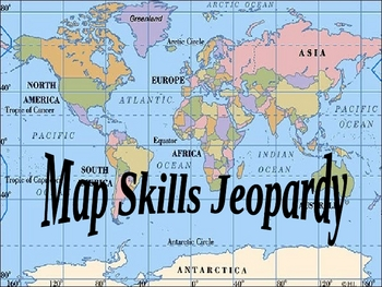 Map skills review jeopardy by mjmcmahan teachers pay teachers map skills review jeopardy sciox Gallery