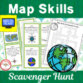 Map Skills Scavenger Hunt + Free BOOM Cards