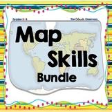 Map Skills Task Card Bundle