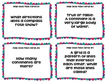 Map Skills Task Cards
