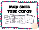 Map Skills Task Cards UPDATED