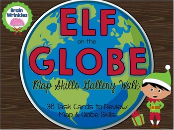 Elf on the Globe: Map Skills Task Cards