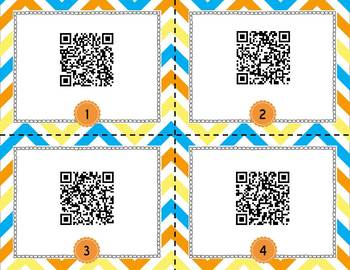 Map Skills Task Cards - QR Code Scoot Game