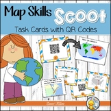 Distance Learning: Map Skills Task Cards - QR Code Scoot Game