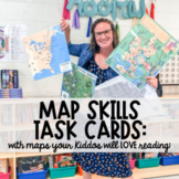Map Skills Task Cards: Using Maps Your Students will LOVE!