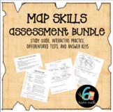 Map Skills Test Bundle