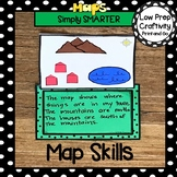 Map Skills Themed Cut and Paste Writing Craftivity